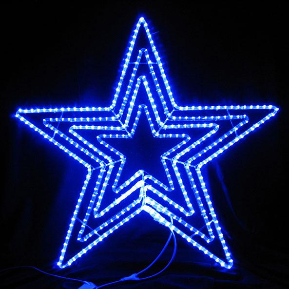 2Dスターモチーフ ビッグスター青色 L2DM601B【コロナ産業 イルミネーション モチーフ LED 照明 ライト クリスマス】