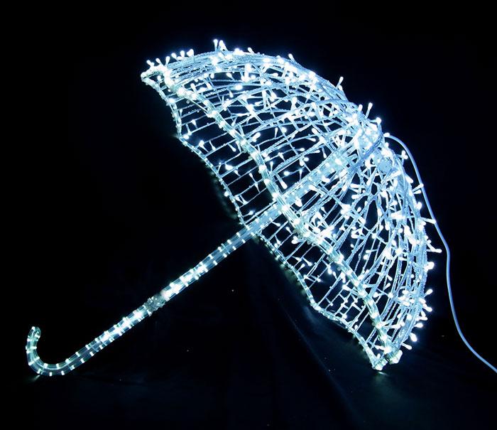 3Dモチーフ アンブレラ L3D293【コロナ産業 イルミネーション モチーフ LED 照明 ライト】