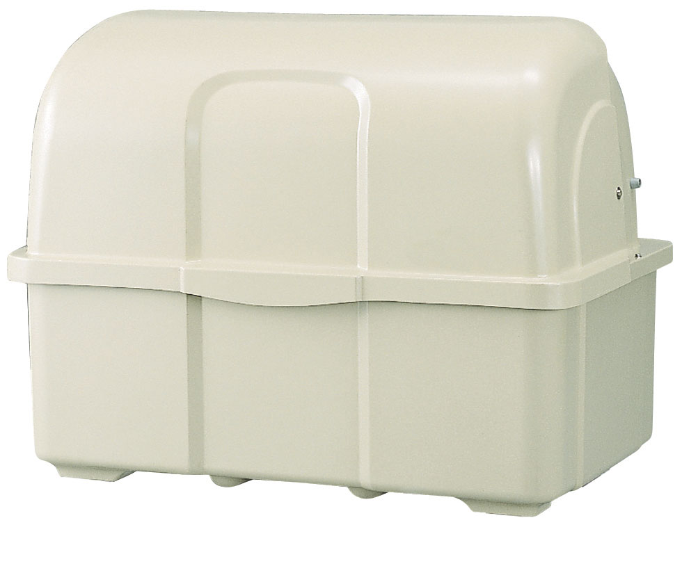 カイスイマレン ジャンボペールHG1000K(固定足)【容量1000L 45Lゴミ袋22個相当 約15世帯 大型ゴミ箱 ゴミステーション FRP製 固定足 アイボリー】