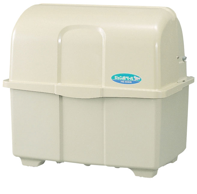 カイスイマレン ジャンボペールHG600K(固定足)【容量600L 45Lゴミ袋13個相当 約9世帯 大型ゴミ箱 ゴミステーション FRP製 固定足 アイボリー】