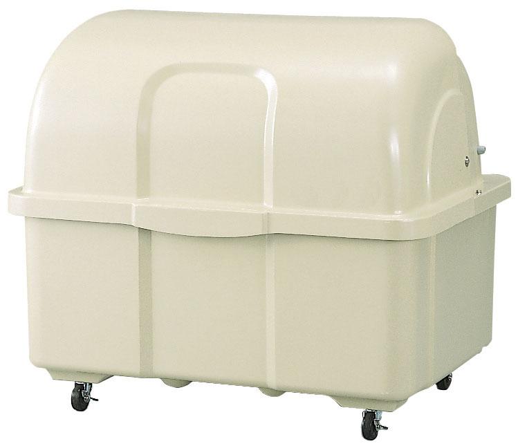 5/2-5/6は休業期間/出荷等は5/7以降 カイスイマレン ジャンボペールHG800C(キャスター付き)【容量800L 45Lゴミ袋18個相当 約12世帯 大型ゴミ箱 ゴミステーション FRP製 キャスター付き アイボリー】