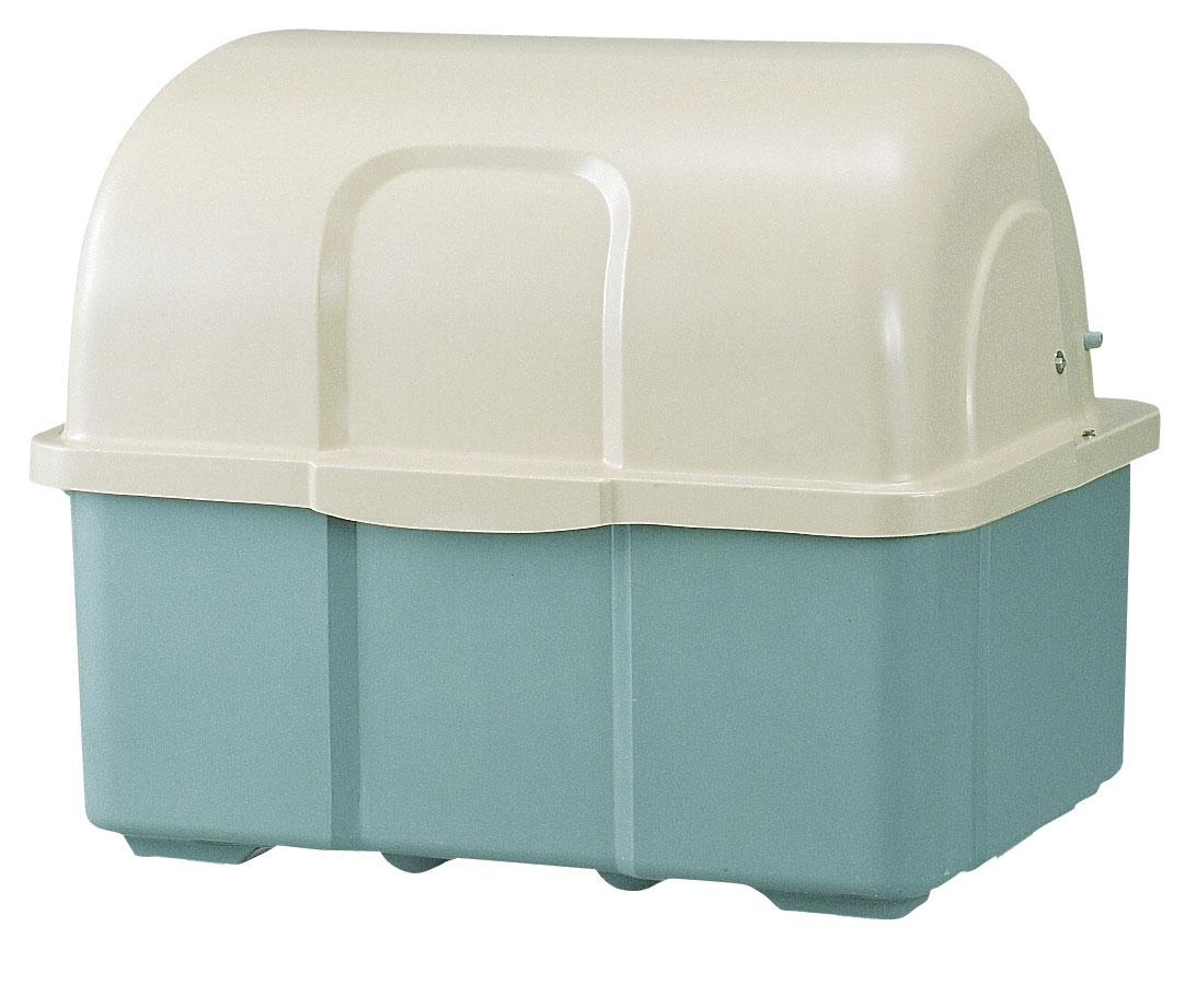 カイスイマレン ジャンボペールHG800TK(固定足)【容量800L 45Lゴミ袋18個相当 約12世帯 大型ゴミ箱 ゴミステーション FRP製 固定足 ツートンカラー】