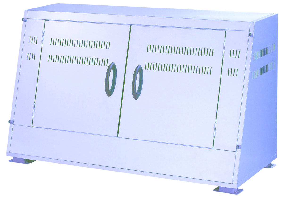 カイスイマレン ジャンボステンSU1100CT(SU-1100CT)【容量1100L 45Lゴミ袋24個相当 約16世帯 大型ゴミ箱 ゴミステーション スチール製 シルバー】