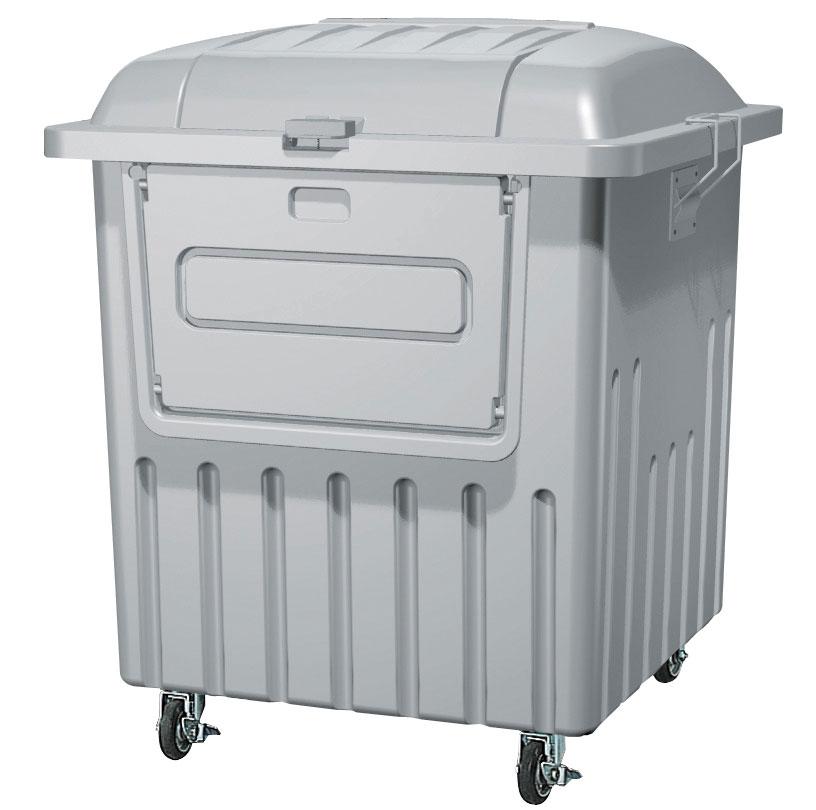 5/2-5/6は休業期間/出荷等は5/7以降 カイスイマレン ジャンボペールPRF1000C(キャスター付き)【容量1000L 45Lゴミ袋23個相当 約15世帯 分別ゴミ箱 分別ごみ箱 ダストボックス プラスチック製 キャスター付き ライトグレー】