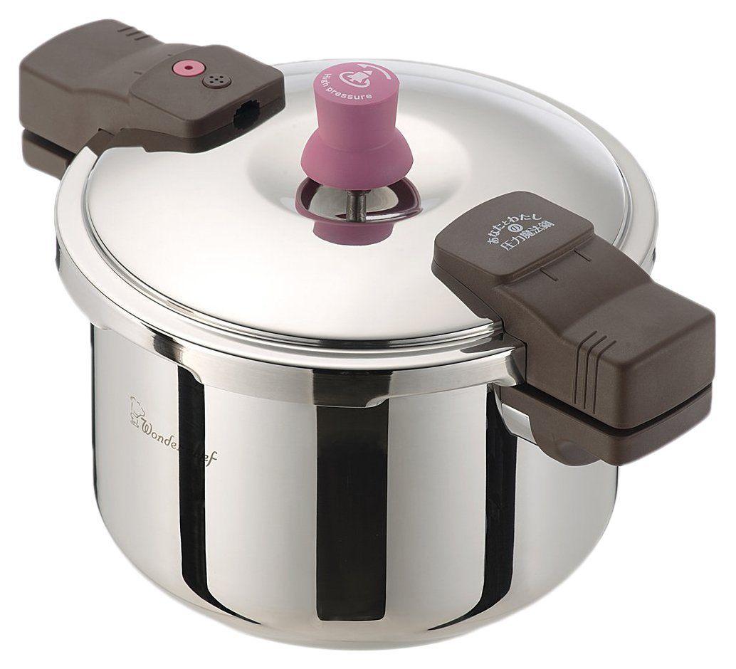 あなたとわたしの圧力魔法鍋5.5L (圧力鍋)【人気 圧力鍋「魔法のクイック料理」の後継品!IH対応 レシピ付き】