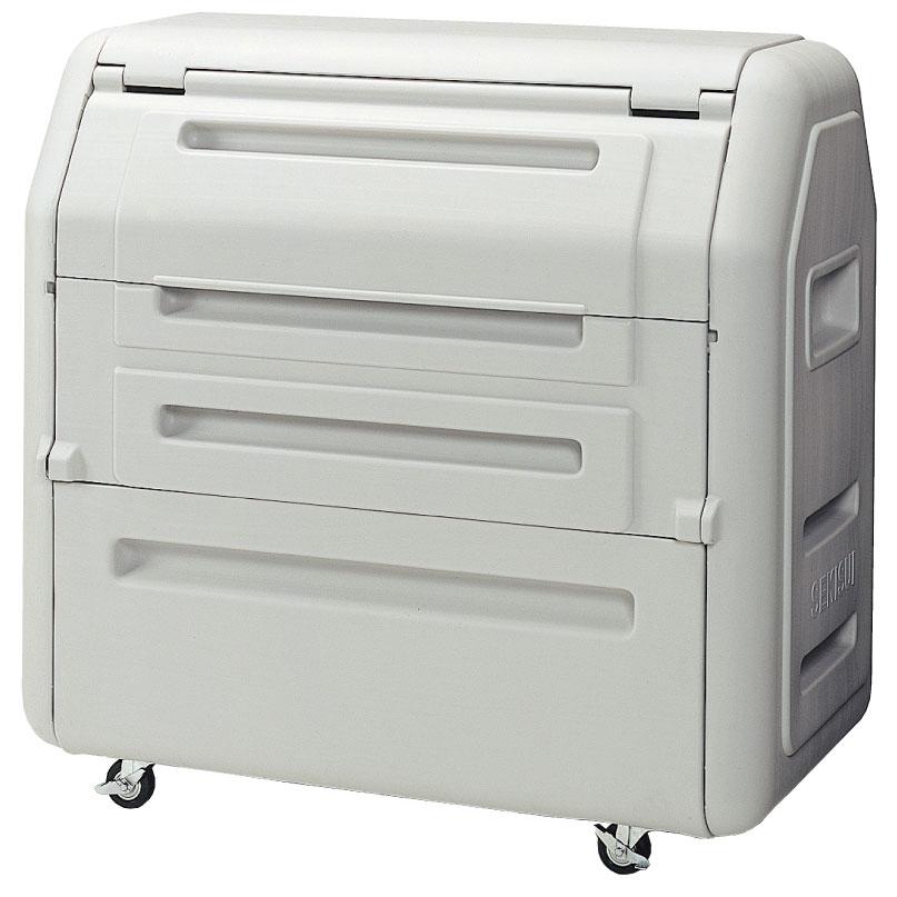 業務用 大型 ゴミ箱 ごみステーション ゴミステーション セキスイ ダストボックス#700 キャスター付き 約10世帯 容量650L 大型ゴミ箱 ライトグレー SDB700H 45Lゴミ袋15個相当 2020 卓出 プラスチック製