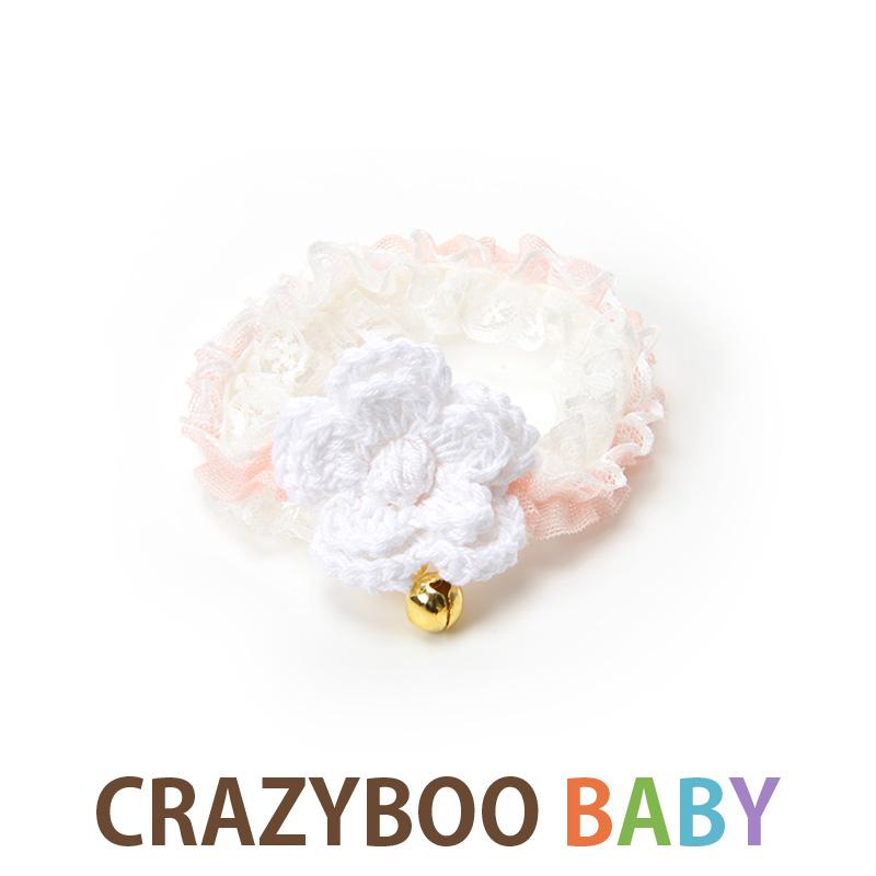 友達 兄弟ワンコの出産祝い 誕生日祝い 初めてのお洋服として セールSALE%OFF CRAZYBOO Baby クレイジーブー 爆売り 犬の服 XS ドッグウェア フラワーレースシュシュ2XS Sサイズ犬服 ベビー