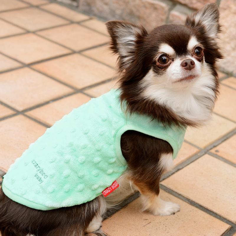 永遠の定番モデル 肌触り抜群のボア生地でドット部分がポコポコしている可愛いタンク CRAZYBOO Baby クレイジーブー ベビー BABYボアタンクトップ2XS Mサイズ犬服 犬の服 S XS ドッグウェア 日本最大級の品揃え