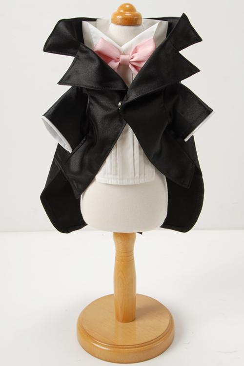 光沢のある上品なサテン生地を使用したロング丈のジャケット。 CRAZYBOO / クレイジーブーCRAZYBOOタキシードMサイズ犬服 / 犬の服 / ドッグウェア