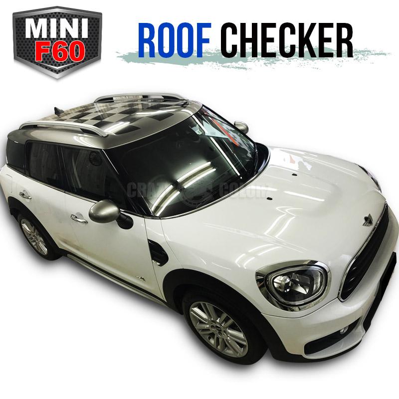 BMW MINI ミニ クロスオーバー F60 ルーフ チェッカールーフ チェックchecker roof デカール ステッカーカスタム オート パーツ ドレスアップ DIY custom auto parts