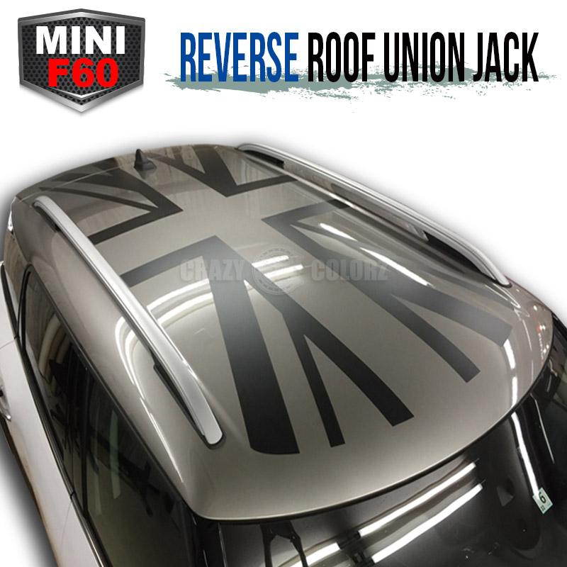 BMW MINI ミニクーパー クロスオーバー カントリーマン F60 ルーフ ユニオンジャック 反転バージョンイギリス国旗 デカール ステッカーカスタム オート パーツ ドレスアップ DIY custom auto parts