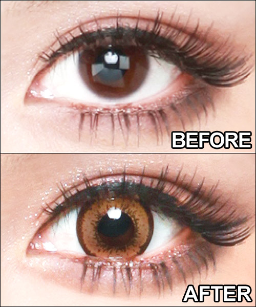 Degrees and degrees without maximum 1 year using color contact lenses popular edge design ☆ Prime 1 box 1 with eyes 2 box set color contact lenses PURIME