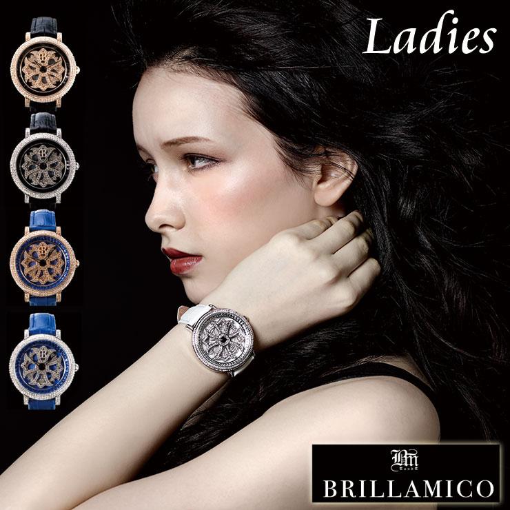 【BRILLAMICO ブリラミコ 腕時計 レディース 正規品 保証書付き 本革ベルト】