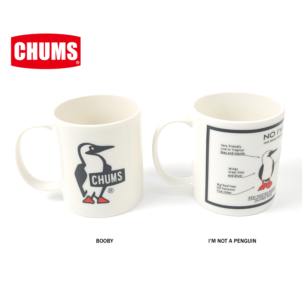 チャムスどどんとプリントされたブービーが愛くるしい陶器のマグカップです お買得 チャムス CHUMS正規品 大人気 ch62-1123 マグカップ 陶器
