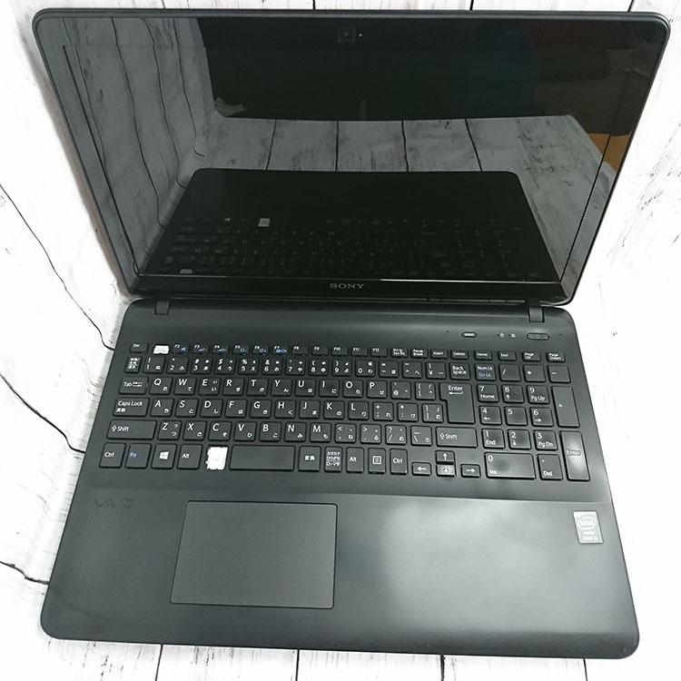 【中古】中古ノートパソコン  SONY-SVF1531SGJ Core i5-4200U(1.60GHZ) /4GB / SSD 120GB / Win10 Pro 64bit /訳あり品【キー欠品X2】