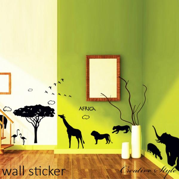 窓 壁 ドア 貼ってはがせるおしゃれなステッカー 送料無料 DIYの満足感 賃貸ok 壁傷や汚れ隠し お部屋がオシャレに変身 ウォールステッカー モノトーン アフリカ大陸 超激得SALE 北欧 ウォールシール おトク 壁紙 シール 壁飾り インテリア はがせる お風呂に貼れる バスルーム 世界地図 鳥 トイレ 海 象 花 木 フレーム モノクロ 子供 オシャレ キッチン アルファベット 魚 猫 英文