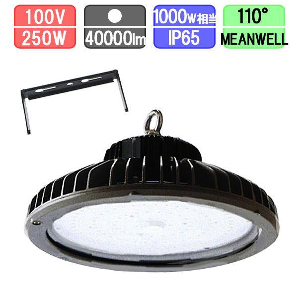 高天井用投光器 LED 水銀灯1000W対応 直付 防塵・防水 IP65 40000lm MEANWELL一体型電源
