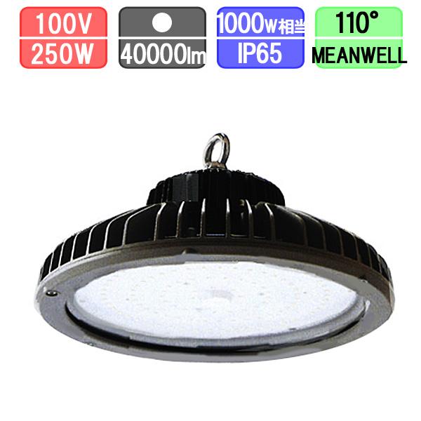 高天井用投光器 LED 水銀灯1000W対応 吊下げ 防塵・防水 IP65 40000lm MEANWELL一体型電源