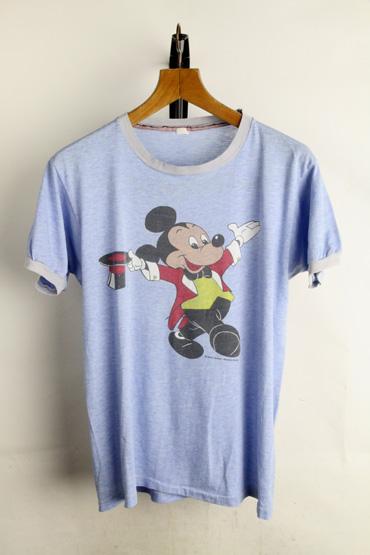 古着 Tシャツ レア☆70年代 ミッキーマウス リンガー 表記不明(【M】相当)【古着】【中古】【メンズ】【レディース】【ヴィンテージ】 【ビンテージ】