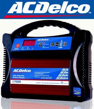 AC DELCO ACデルコ AD-0005 フルオートバッテリー充電器 全自動充電 起動 オルタネーター診断 バッテリーチェッカー エンジンスタート機能付き