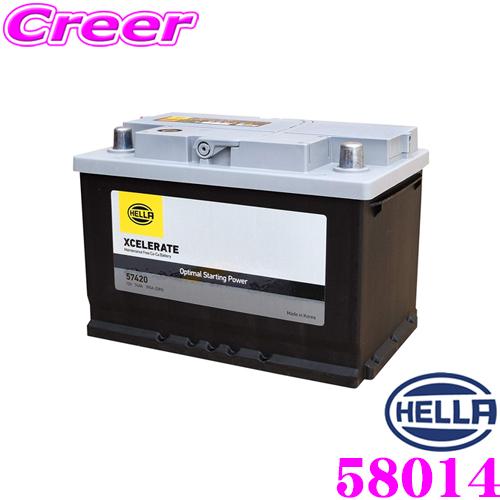 HELLA XCELERATE 58014欧州車用シールドバッテリー【メンテナンスフリー/24ヶ月3万km保証 互換品番:20-88/27-80/LBN4/LN4など】