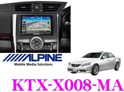 アルパイン KTX-X008-MA VIE-X008用パーフェクトフィット 【トヨタ・マークX(H21/10~)専用/ステアリングスイッチ用ハーネス付属】