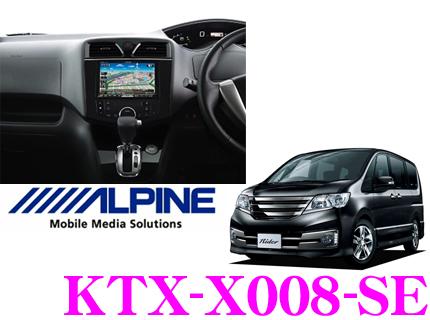 アルパイン KTX-X008-SE VIE-X008用パーフェクトフィット 【日産・セレナ(H22/11~)専用】