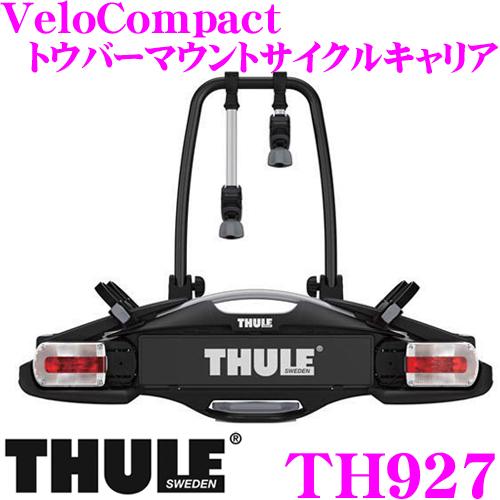 THULE VeloCompact 927 スーリー ベロコンパクト927 TH927 トウバーマウントサイクルキャリア 【対応フレーム径:φ22-80mm】 【サイクル3台用】 [TMC]