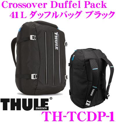 THULE TCDP-1 Crossover Duffel Pack 41L ブラック スーリー クロスオーバー ダッフルバッグ【バッグのサイズをギアに合わせて調整可能な大容量リュック】