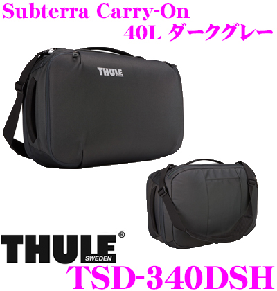THULE TSD-340DSH Subterra Carry-On 40L ダークグレー スーリー サブテラ キャリーオン 【バックパックとショルダーバッグの2way仕様】
