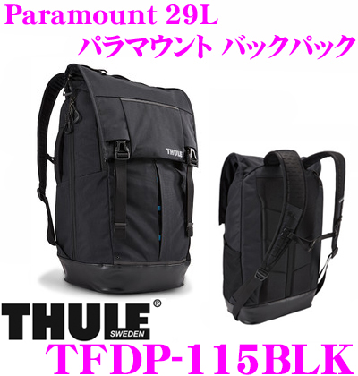 THULE スーリー TFDP-115BLK Paramount 29L パラマウント バックパック ブラック 【15インチMacBookPro/ノートPC保護スペース付大容量リュック バッグ】