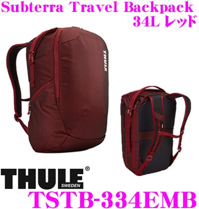 THULE TSTB-334EMB Subterra Travel Backpack 34L レッド スーリー サブテラ トラベル バックパック 【15インチMacBook/15.6インチPC保護スペース付リュック バッグ】