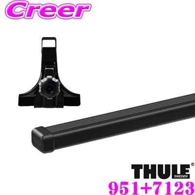 THULE スーリー スズキ エブリィワゴン (DA64W 標準ルーフ)用 ルーフキャリア取付2点セット フット951&バー7123セット バーTH769後継