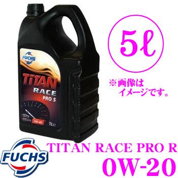 FUCHS フックス A600744779 TITAN RACE PRO R 0W-20 モータースポーツ向け 100%化学合成エンジンオイル SAE:0W-20 内容量5L
