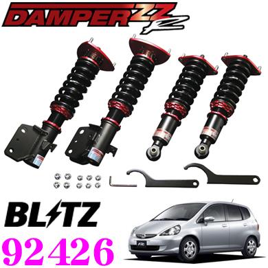 BLITZ ブリッツ DAMPER ZZ-R No:92426ホンダ GD系 フィット用車高調整式サスペンションキット