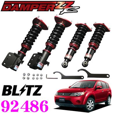BLITZ ブリッツ DAMPER ZZ-R No:92486三菱 CW系 アウトランダー(H17/10~H24/10)用車高調整式サスペンションキット