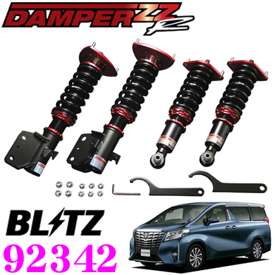 BLITZ burittsu DAMPER ZZ-R No:供92342丰田30系统arufado/verufaia(H27/1~)使用的车金额调整式避震器配套元件
