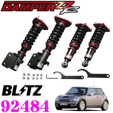 BLITZ ブリッツ DAMPER ZZ-R No:92484MINI クーパーS(R53)(H14/03~)用車高調整式サスペンションキット