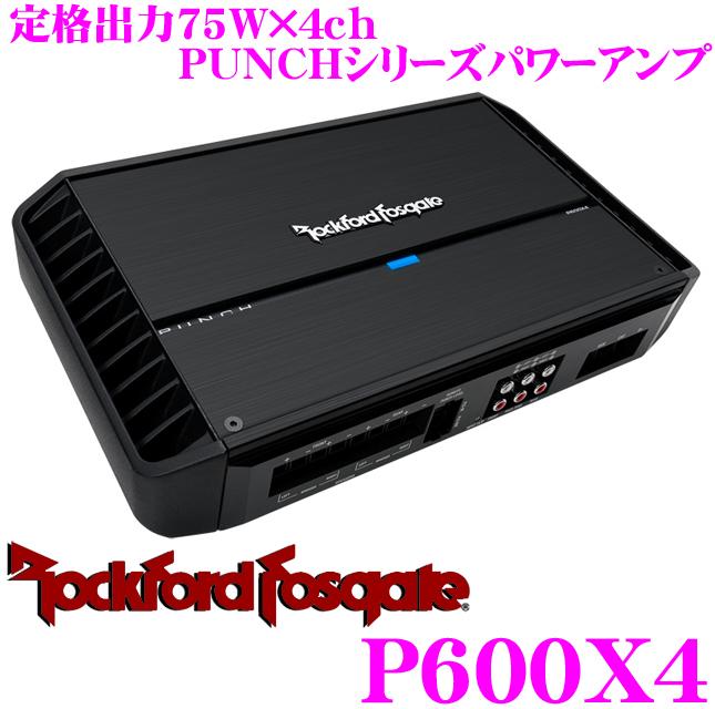 RockfordFosgate锁头福特PUNCH P600X4规格输出75W×4ch功率放大器