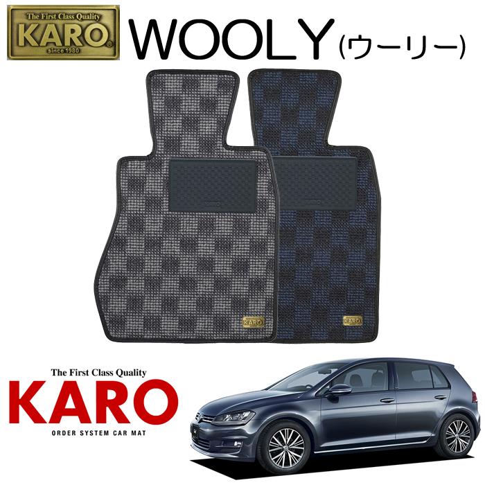 KARO カロ WOOLY(ウーリー)3460 AUC用 フロアマット4点セット 【AUC用 ゴルフ7(右)/純正S/4WD車】