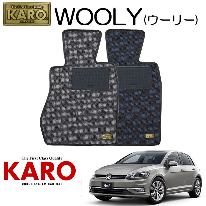 KARO カロ WOOLY(ウーリー)3505AUC用 フロアマット4点セット【AUC用 ゴルフ7(右)/純正S/4WD車】