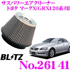 BLITZ ブリッツ No.26141 トヨタ マークX(GRX120系)用 サスパワー コアタイプエアクリーナー SUS POWER AIR CLEANER