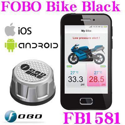 ブルーネクストジャパン FOBO FB1581 FOBO Bike Silver (フォボバイク シルバー) バイク用タイヤ空気圧 監視システム【iPhone/iPad mini/iPod touch/Galaxy 等対応】