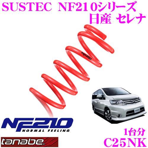 TANABE タナベ ローダウンサスペンション C25NK ニッサン セレナ C25 HC27 セレナ e-POWER用 SUSTEC NF210 F 15~25mm R 20~25mmダウン 車両1台分 車検対応