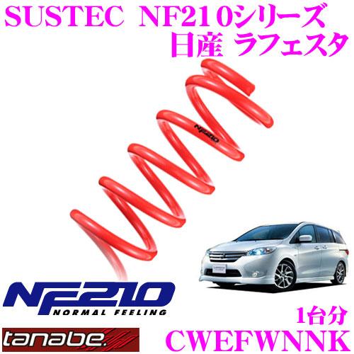TANABE タナベ ローダウンサスペンション CWEFWNNK ニッサン ラフェスタハイウェイスター CWEFWN(H23.6~)用 SUSTEC NF210 F 15~25mm R 15~25mmダウン 車両1台分 車検対応