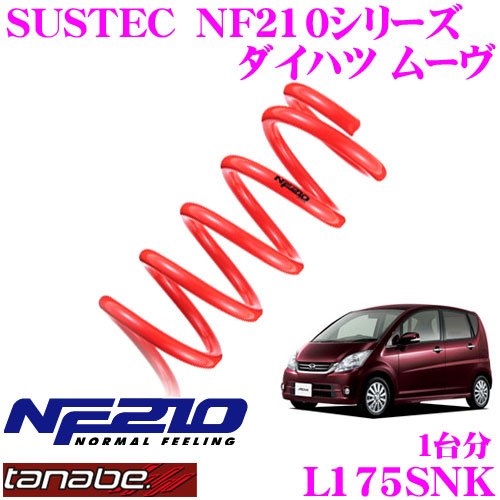 TANABE タナベ ローダウンサスペンション L175SNK ダイハツ ムーヴ L175S(H18.10~)用 SUSTEC NF210F 20~30mm R 20~30mmダウン 車両1台分 車検対応