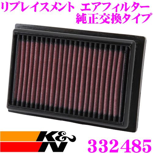 K&N 純正交換フィルター 33-2485トヨタ 10系 アクア用リプレイスメント ビルトインエアフィルター純正品番17801-21060対応