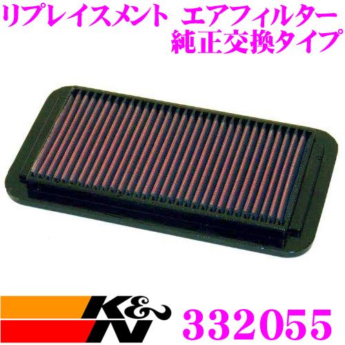 K&N 純正交換フィルター 33-2055SATURN SC2/SL2/SW2 用リプレイスメント ビルトインエアフィルター純正品番21000938対応//