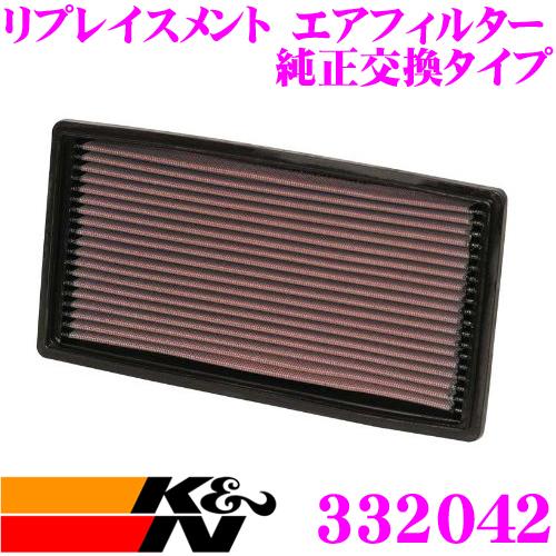 K&N 純正交換フィルター 33-2042 シボレー CM14 / CL14 アストロ用など リプレイスメント ビルトインエアフィルター