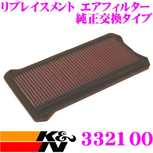 K&N 純正交換フィルター 33-2100ホンダ オデッセイ 用リプレイスメント ビルトインエアフィルター純正品番:17220-POG-000対応